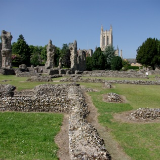 View of the Abbey with the Cathedral in the background