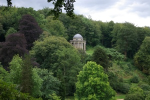 Temple of Apollo from a break in the trees