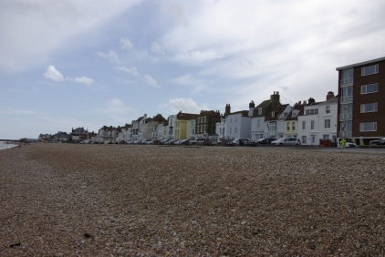 View of Homes from the Beach