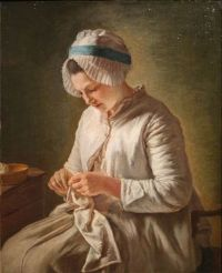Seamstress or Young Lady Sewing