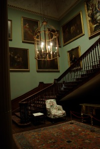 Staircase with Kauffman paintings