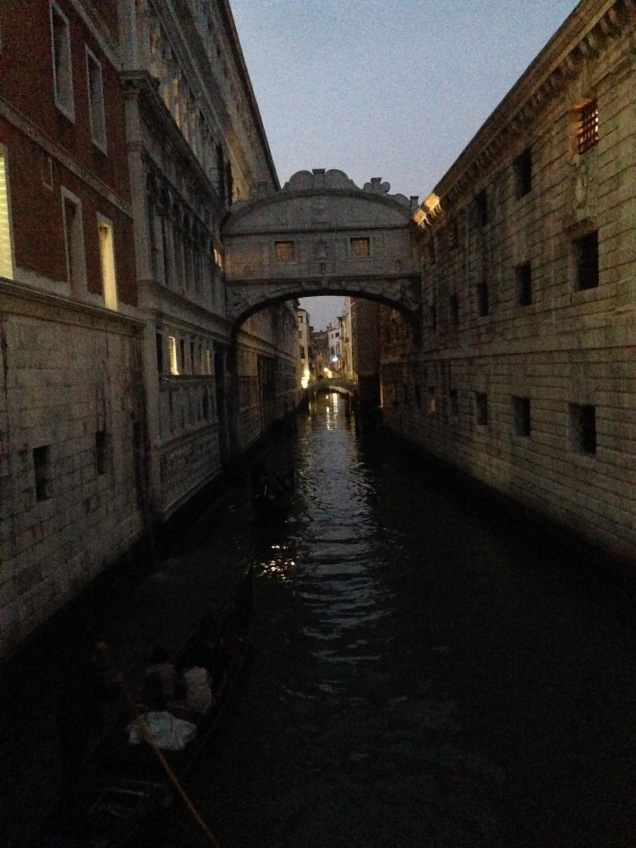 Evening view of the Bridge of Sighs